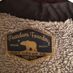 Freedom Foundry Shirts - Men's Freedom Foundry Warm Burgundy Plaid Shirt